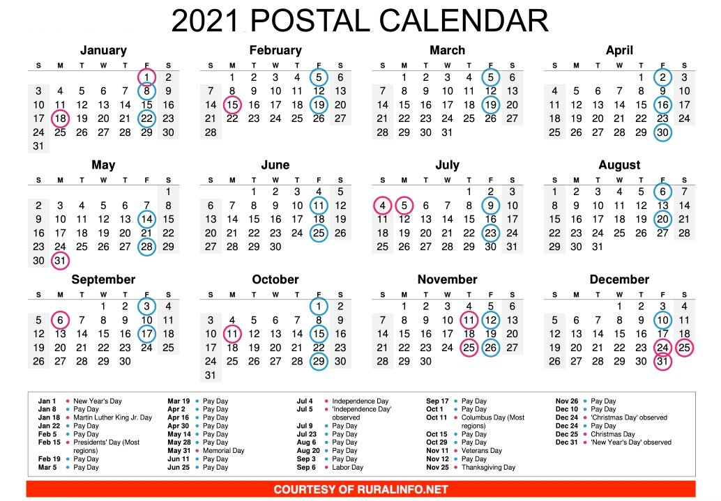 Nalc Calendar 2022.What Are The Postal Holidays For 2021